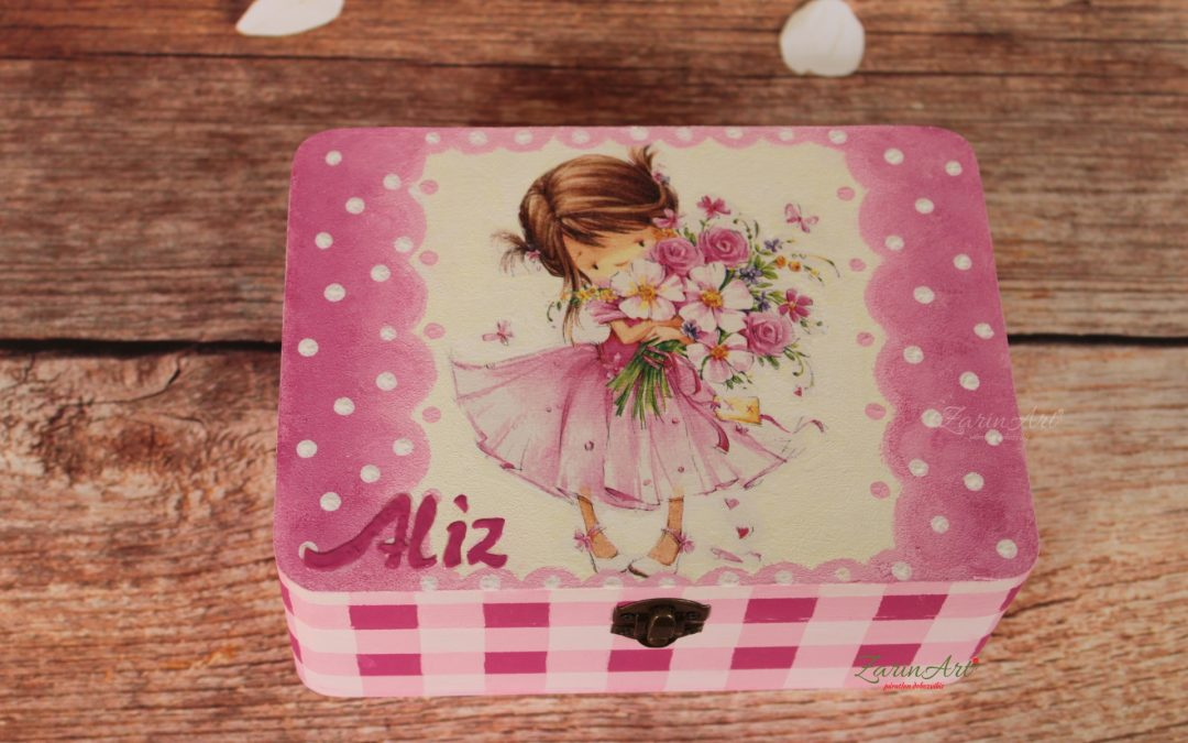 Csatos dekor doboz tavaszi hangulatban